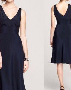 Midi J.Crew Silk Cocktail Dress Black Lined Sz 10